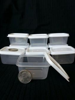 10 New Mini Clear Plastic Small Boxes With Lid Container Sto