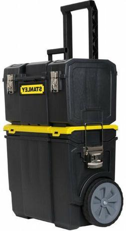 NEW Stanley 3-in-1 Rolling Tool Box Organizer Portable Works