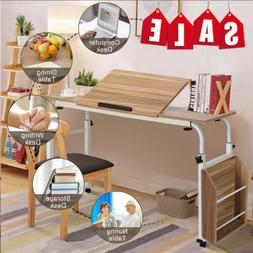 New Adjustable Laptop Cart Mobile Computer Desk Furniture W/