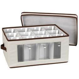 New Household Essentials Goblet Stemware Storage Box Home Wi
