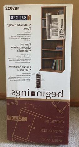 """New in Box Multimedia Storage Tower, 16"""" W x 44"""" Tall, Woo"""