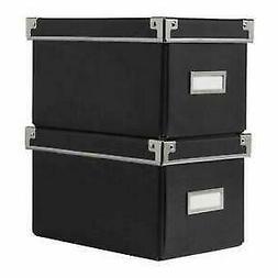 "NEW IKEA Kassett Black CD Size Storage Boxes 6.25"" x 10.25"""