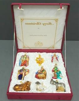NEW Old World Christmas Nativity Collection Glass Ornaments