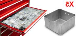 NEW Steel Small Parts Organizer 3X3 Bins for Tool Box Storag
