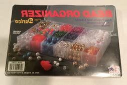 NIP NIB Darice Bead Craft Organizer Plastic Container 17 Com