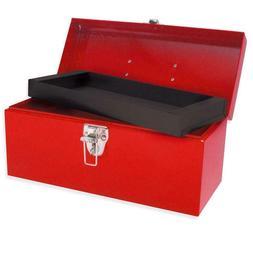 Old School Metal Tool Box & Storage Tray Bin Heavy Duty Tool