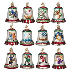 OLD WORLD CHRISTMAS 12 DAYS OF CHRISTMAS BELLS ORNAMENT SET