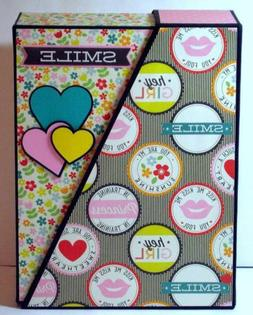 Handmade OOAK Girl's Scrapbook Album with Storage Box Holds