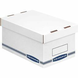 Bankers Box Organizer Storage Boxes Medium White/Blue 12/Car