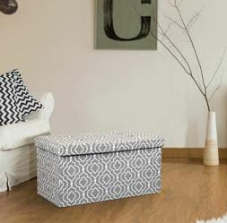 OTTO&BEN EASY SETUP Folding Storage Ottoman Cushion Foot Sto