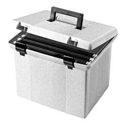 "Oxford Portfile Large Portable File Box, Granite, 11""H x 14"""