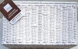 🆕Household Essentials Paper Rope Lidded Wicker Storage Bo