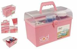 Pekky Plastic Small Handle Storage Box for Art Craft and Cos