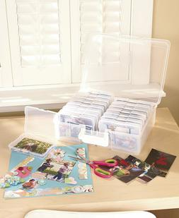 Photo Keeper Organizer Cases Clear Multicolored Store up to