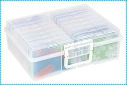 PHOTO STORAGE BOX 1600 PHOTO ORGANIZER CLEAR CASE CRAFT KEEP
