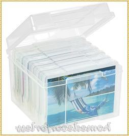 PHOTO STORAGE BOX 600 PHOTO ORGANIZER CASE SORT PICTURE SCRA