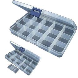 Plastic 15 Slots Adjustable Jewelry Storage Box Case Craft O