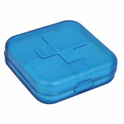 Plastic 4 Compartment Pill Box Tablet Holder Case Organizer