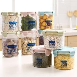Plastic Air Tight Food Containers Storage Set Clear Kitchen