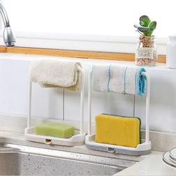 Plastic Bathroom Home Kitchen Accessories Towel Soap Rack St