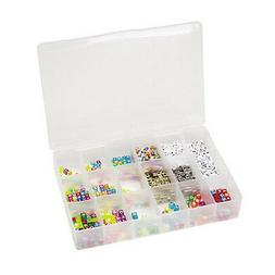Darice Plastic Bead Organizer with 17 Compartments, Clear