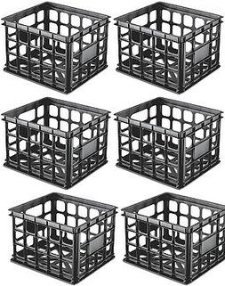 Sterilite Plastic Black Storage Box Milk Crate Containers Ho