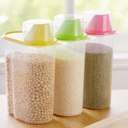 Plastic Cereal Dispenser Storage Box Kitchen Food Storage Gr