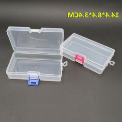 Plastic Clear Storage Box Jewelry Craft Nail Arts Beads Cont