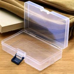 Plastic Clear Storage Boxes Jewelry Craft Nail Art Container