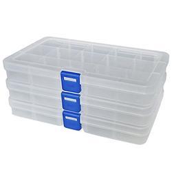 plastic container storage adjustable divider