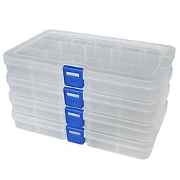 DUOFIRE Plastic Organizer Container Storage Box Adjustable D