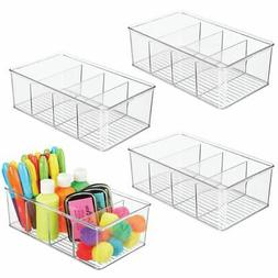 mDesign Plastic Craft & Sewing Storage Organizer Bin Box - 4