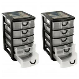 Plastic Drawer Jewelry Makeup Office Arts Crafts Sewing Bin