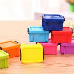 Plastic Mini Storage Box Case Desk Jewelry Box Container Org