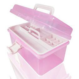 Plastic Multi-functional Makeup Nail Art Craft Storage Box O
