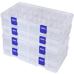 DUOFIRE Plastic Organizer Container Storage Box Adjustable D