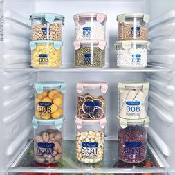 Pantry Storage Organizer Bins Kitchen Plastic Jar Food Stora