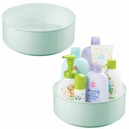 mDesign Plastic Round Lazy Susan Turntable for Kid/Baby Item