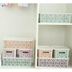 Plastic Storage Basket Box Bin Container Organizer Clothes L