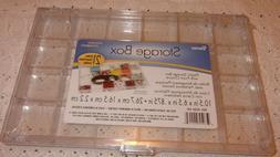 Darice Plastic Storage Box Front Closure 21 Compartments