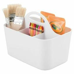 mDesign Plastic Storage Caddy Tote for Sewing & Craft Suppli