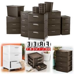Plastic Storage Drawer Set Sterilite Cabinet Office Large Or