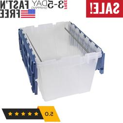 Plastic Storage Hanging File Box 12 Gallon with Attached Lid
