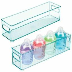 "mDesign Plastic Storage Organizer Bin for Kids, 4"" Wide"