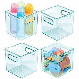 mDesign Plastic Storage Organizer Bin for Kids Supplies