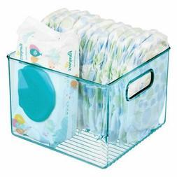 mDesign Plastic Storage Organizer Bin Holder for Kid/Baby Su