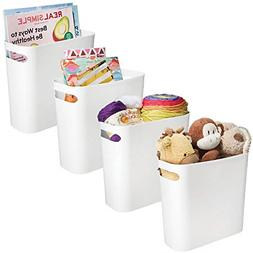 mDesign Plastic Storage Organizer, Holder Bin Box with Handl