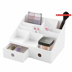 mDesign Plastic Tiered, Divided Makeup Organizer Storage She