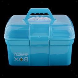 Plastic Tool Box Lockable Storage Case Arts Craft Supply Org
