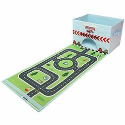 Playsets Livememory Cars Kids Toy Storage Box Mat Toys Bin S